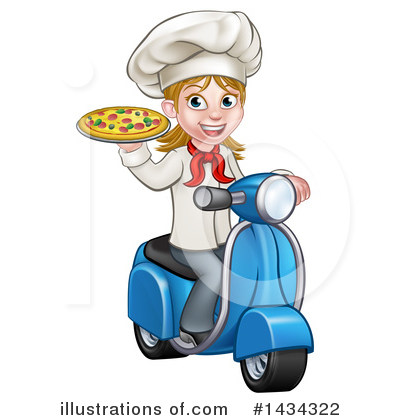 Royalty-Free (RF) Chef Clipart Illustration by AtStockIllustration - Stock Sample #1434322