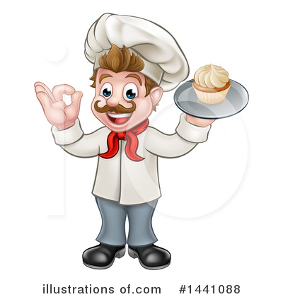 Royalty-Free (RF) Chef Clipart Illustration by AtStockIllustration - Stock Sample #1441088