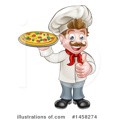 Pizza Clipart #1458274 by AtStockIllustration