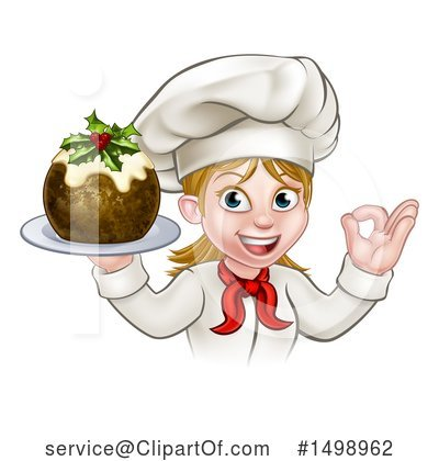 Christmas Pudding Clipart #1498962 by AtStockIllustration
