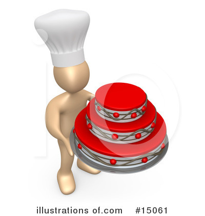 Royalty-Free (RF) Chef Clipart Illustration by 3poD - Stock Sample #15061