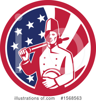 Royalty-Free (RF) Chef Clipart Illustration by patrimonio - Stock Sample #1568563
