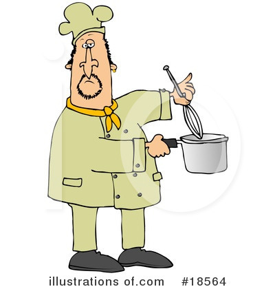Royalty-Free (RF) Chef Clipart Illustration by djart - Stock Sample #18564