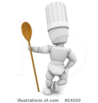 Royalty-Free (RF) Chef Clipart Illustration by KJ Pargeter - Stock Sample #24550