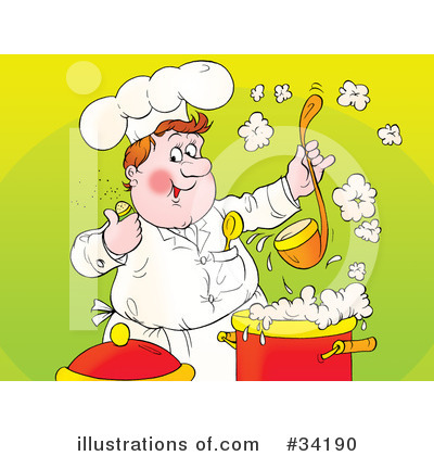 Royalty-Free (RF) Chef Clipart Illustration by Alex Bannykh - Stock Sample #34190