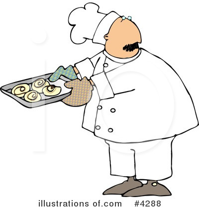 Royalty-Free (RF) Chef Clipart Illustration by Dennis Cox - Stock Sample #4288