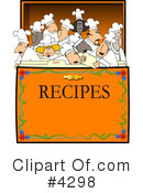 Royalty-Free (RF) Chef Clipart Illustration #4298