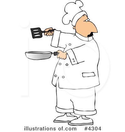 Royalty-Free (RF) Chef Clipart Illustration by djart - Stock Sample #4304