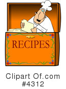 Royalty-Free (RF) Chef Clipart Illustration #4312