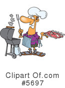 Royalty-Free (RF) Chef Clipart Illustration #5697
