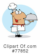 Royalty-Free (RF) Chef Clipart Illustration #77852