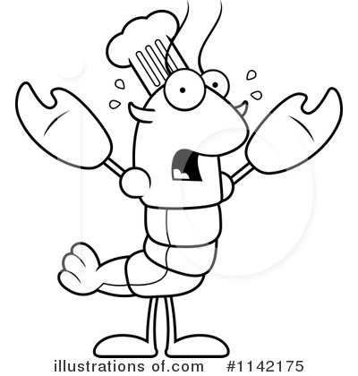 Chef Crawdad Clipart #1142175 by Cory Thoman