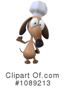Royalty-Free (RF) Chef Dog Clipart Illustration #1089213