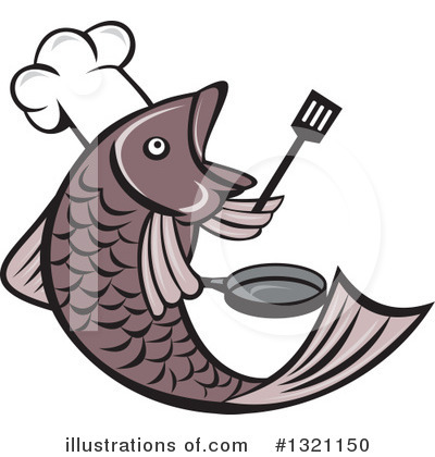 Royalty-Free (RF) Chef Fish Clipart Illustration by patrimonio - Stock Sample #1321150