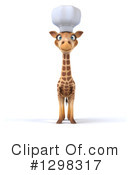 Royalty-Free (RF) Chef Giraffe Clipart Illustration #1298317