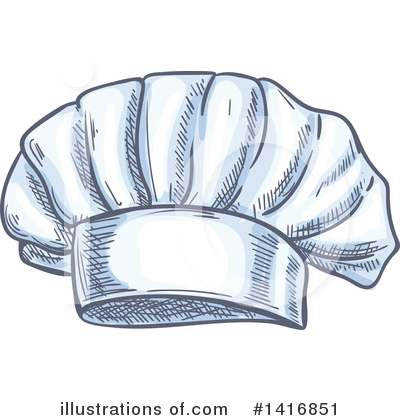 Chef Hat Clipart #1416851 by Vector Tradition SM