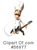 Royalty-Free (RF) Chef Henry Character Clipart Illustration #56977