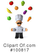Royalty-Free (RF) chef man Clipart Illustration #100817