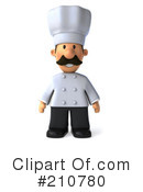 Royalty-Free (RF) Chef Man Clipart Illustration #210780