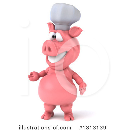 Chef Pig Clipart #1313139 by Julos