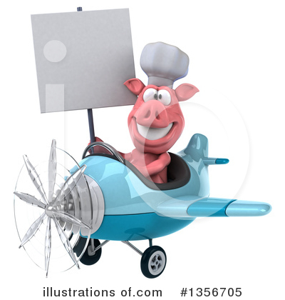 Royalty-Free (RF) Chef Pig Clipart Illustration by Julos - Stock Sample #1356705