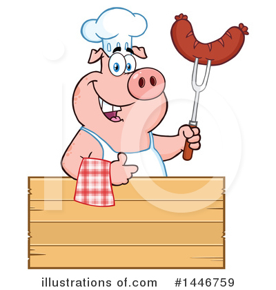 Pig Clipart #1446759 by Hit Toon
