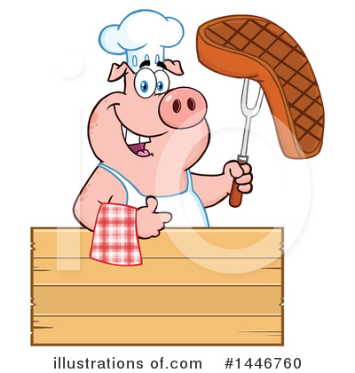 Pig Clipart #1446760 by Hit Toon