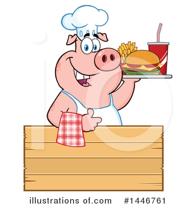 Burger Clipart #1446761 by Hit Toon