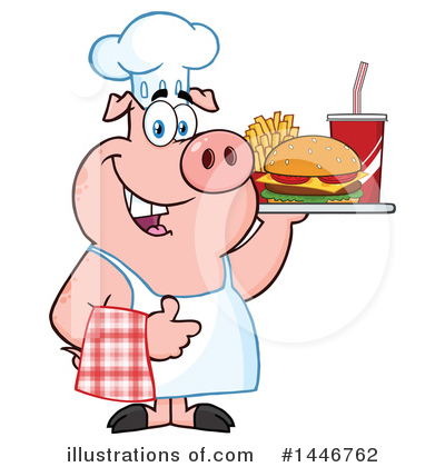 Burger Clipart #1446762 by Hit Toon