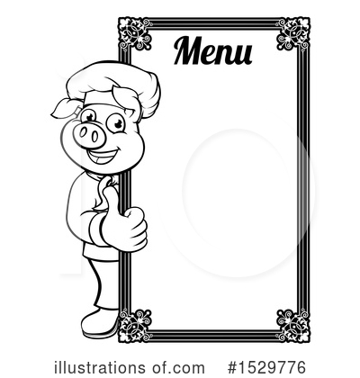 Royalty-Free (RF) Chef Pig Clipart Illustration by AtStockIllustration - Stock Sample #1529776