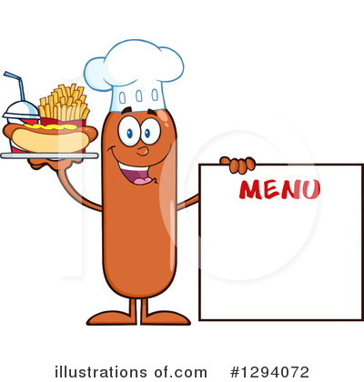Chef Sausage Clipart #1294072 by Hit Toon