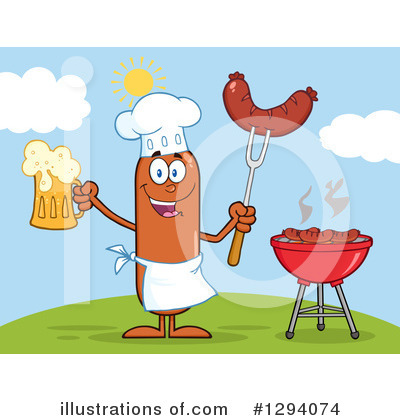 Chef Sausage Clipart #1294074 by Hit Toon