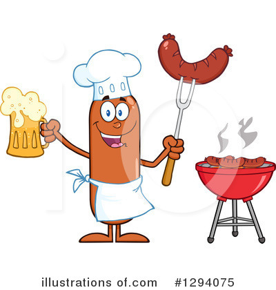 Chef Sausage Clipart #1294075 by Hit Toon