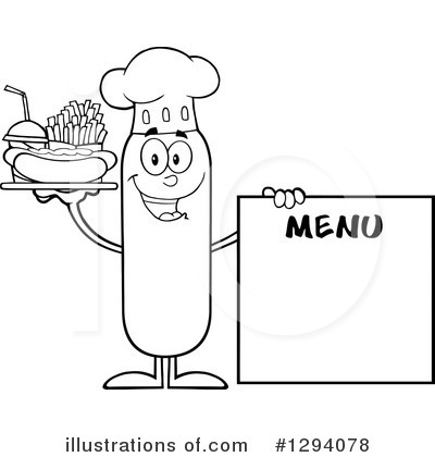 Chef Sausage Clipart #1294078 by Hit Toon