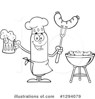 Chef Sausage Clipart #1294079 by Hit Toon