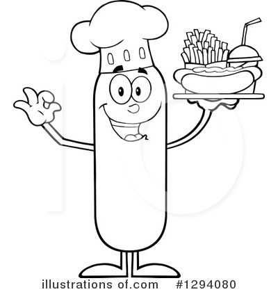 Chef Sausage Clipart #1294080 by Hit Toon