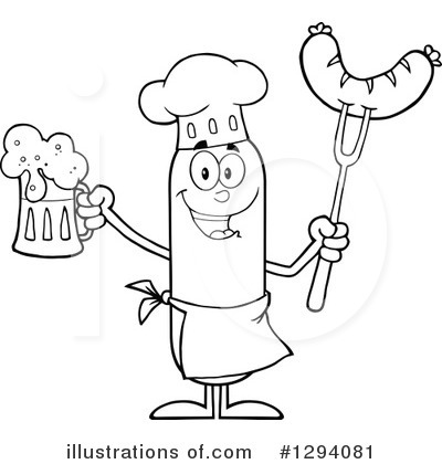 Chef Sausage Clipart #1294081 by Hit Toon