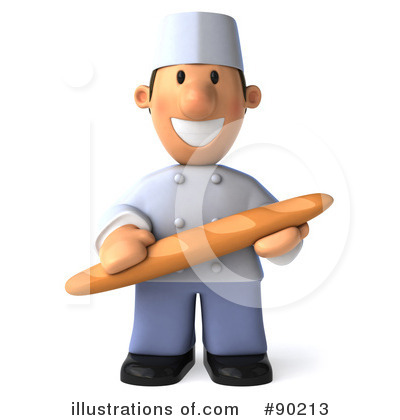 Royalty-Free (RF) Chef Toon Guy Clipart Illustration by Julos - Stock Sample #90213