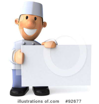 Chef Toon Guy Clipart #92677 by Julos