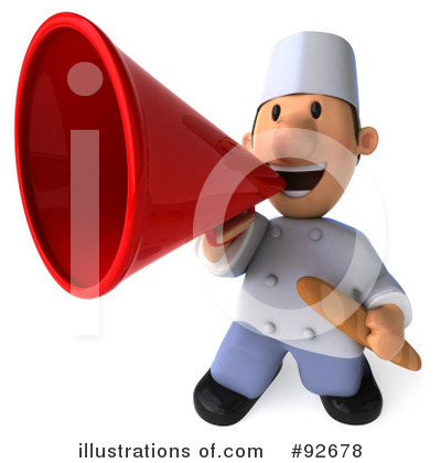 Chef Toon Guy Clipart #92678 by Julos