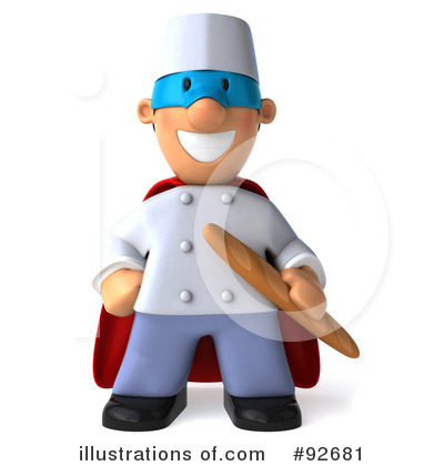Chef Toon Guy Clipart #92681 by Julos