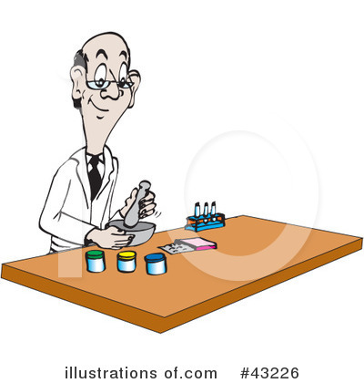 Royalty-free (rf) chemistry clipart illustration by dennis holmes