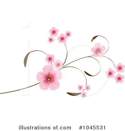Royalty-Free (RF) Cherry Blossoms Clipart Illustration by Pushkin - Stock Sample #1045531