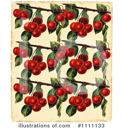 Royalty-Free (RF) Cherry Clipart Illustration by Prawny Vintage - Stock Sample #1111133