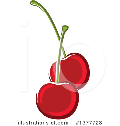 Cherry Clipart #1377723 by Vector Tradition SM