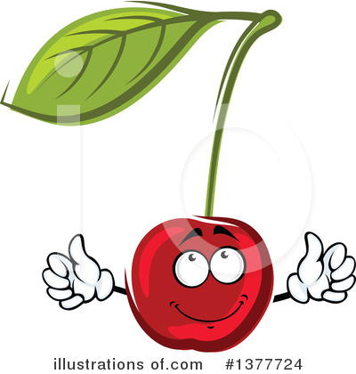 Cherry Clipart #1377724 by Vector Tradition SM