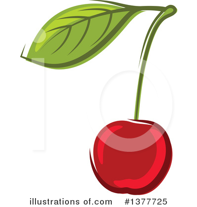 Royalty-Free (RF) Cherry Clipart Illustration by Vector Tradition SM - Stock Sample #1377725