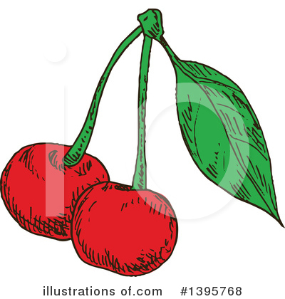 Cherry Clipart #1395768 by Vector Tradition SM