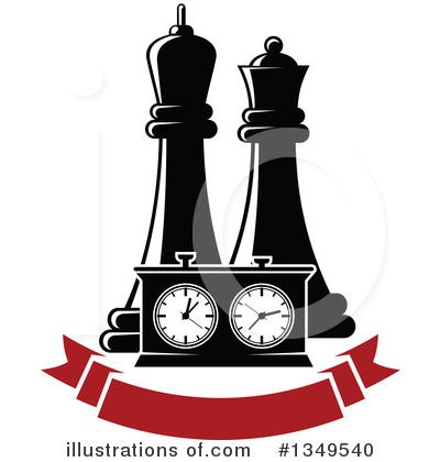 Chess Clipart #1349540 by Vector Tradition SM