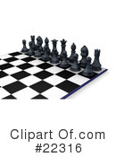 Royalty-Free (RF) chess Clipart Illustration #22316